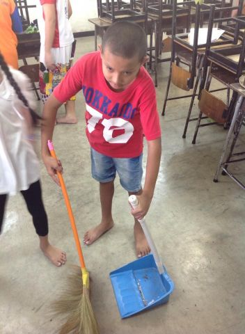 กิจกรรมวันสถาปนากองลูกเสือแห่งชาติ และ cleaning day ครั้งที่ 1