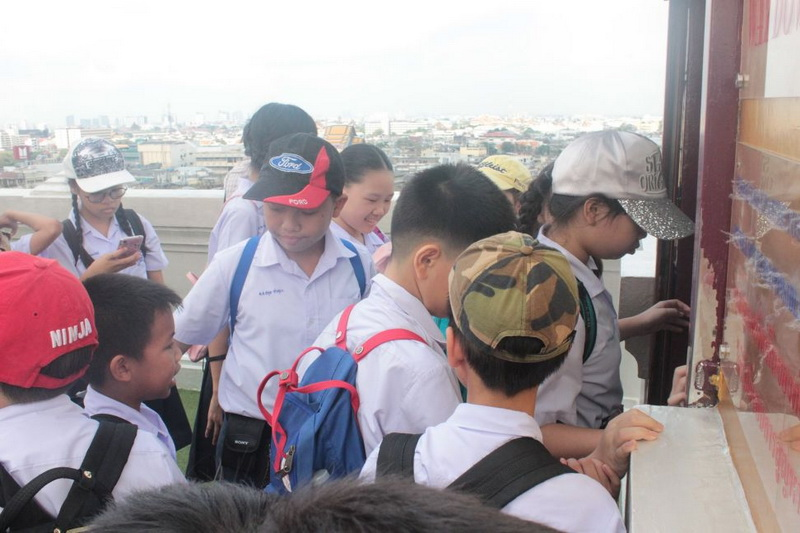 ทัศนศึกษารอบเกาะรัตนโกสินทร์ และวัดสระเกศ นักเรียนชั้นประถมศึกษา 5