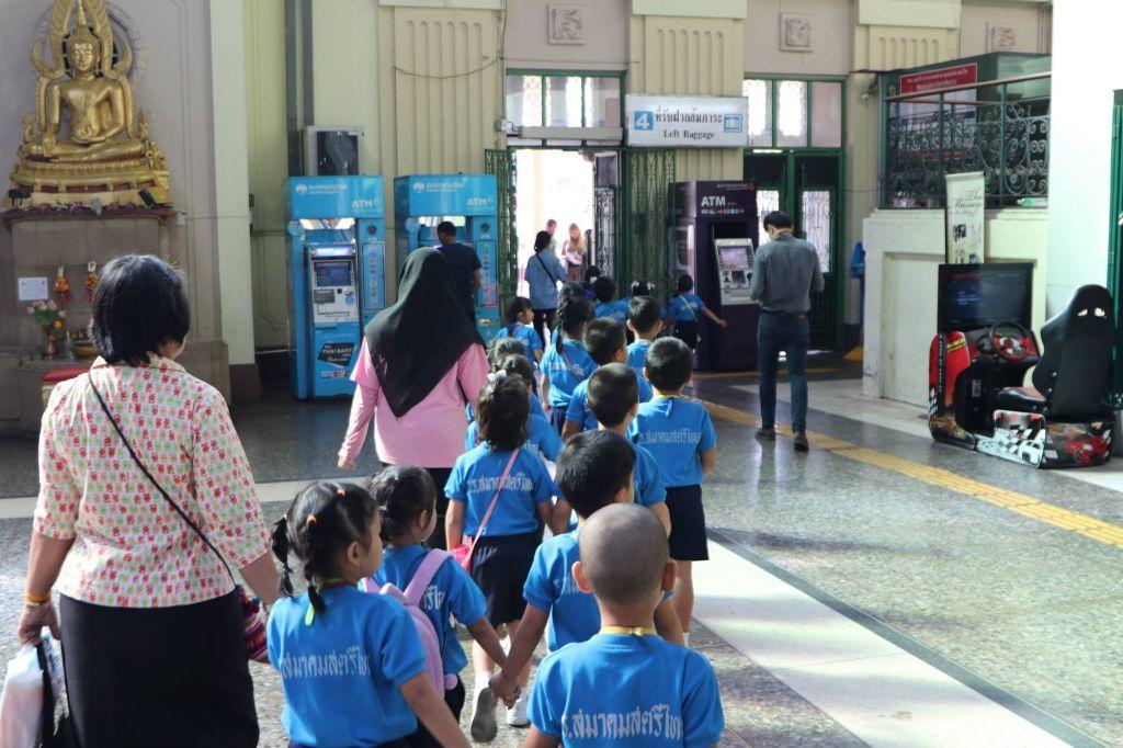 ทัศนศึกษา สถานีรถไฟหัวลำโพง นักเรียนชั้นปฐมวัยปีที่ 3